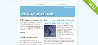 blue email marketing newsletter template psd file free download