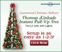 thomas kinkade christmas tree with train