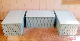 Build Wooden Toy Boxes by Ana White Upholstered Toy Boxes From Old Kitchen Cabinets Diy