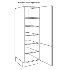 hauteur colonne cuisine armoire colonne à vaisselle largeur 60cm