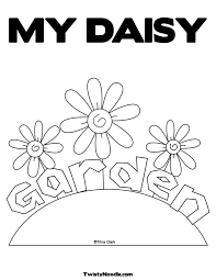 daisy flower garden coloring pages flower coloring