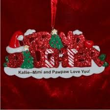 granddaughter family ornaments personalized by by