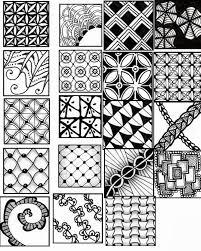 zentangle sheets printable patterns patterns kid
