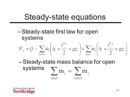 steady state equations