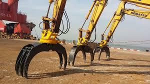 excavator log grapple rotating grapple wood grapple for 20 tons