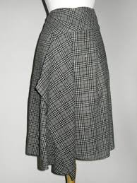 crea concept wool plaid skirt by crea concept at hello boutique