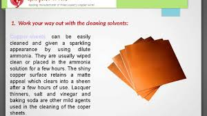 top 5 tips on how to clean u0026 maintain copper sheets youtube
