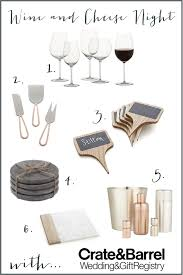 wedding registr wine and cheese essentials