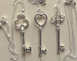 necklace silver etsy images Silver key necklace etsy jpg