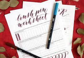 brush pen calligraphy worksheet the postman u0027s knock