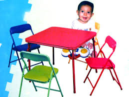 Small Folding Table And Chairs with Red Folding Table And Colored Folding Chairs For Childrens And Kids