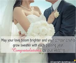 Marriage Cards Messages May Your Love Bloom Brighter Wedding Congratulations Card