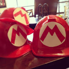 super mario diy birthday party hats 1 99 construction hat at party city white paper