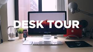 desk setup tour youtube