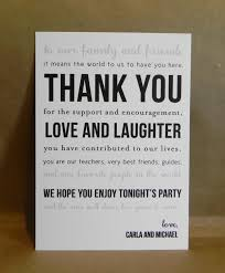 custom printed thank you card welcome basket wedding reception