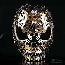 venetian masquerade masks for men skull metal venetian masquerade mask for men or women gold