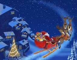 claus is coming merry christmas christmas tree new year snow town