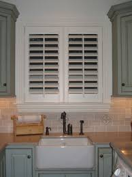 Kitchen Window Shutters Interior Custom Plantation Shutters Kitchen Home Pinterest