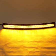 24 Led Light Bar by 240w 42 Inch Curved Amber White Led Light Bar With Rgb Halo Ring