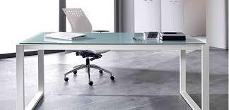 plateau verre bureau artdesign bureaux design avec plateaux mélaminéhêtre ou blanc uni