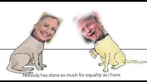 hillary clinton barking vs donald trump barking dog fight funny