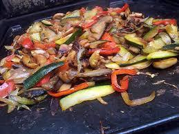 cuisiner a la plancha recette de ratatouille à la plancha de pipa
