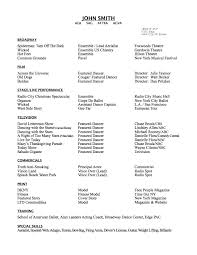 Professional Actor Resume Performance Resume Template Templates