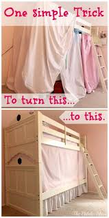 Bunk Bed With Tent At The Bottom Simple No Sew Bunk Bed Tent Bunk Bed Tent Bunk Bed And Tents