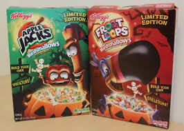 Halloween Skeleton Names Review Halloween Apple Jacks And Froot Loops Cereals With