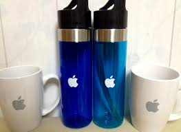 mugs and bottles purchased from apple company store in cupertino
