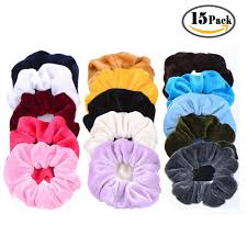 bobbles hair ondder 16 pack velvet scrunchies hair bobble elastics