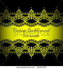 ornate decorated golden ornament background pattern stock vector