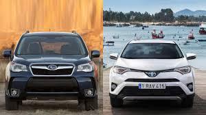 subaru hybrid 2016 2016 subaru forester vs 2016 toyota rav4 hybrid youtube