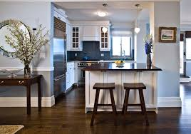 small kitchen design with peninsula blue subway tiles contemporary kitchen anne chessin designs
