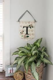 Monogrammed Home Decor Diy Felt And Canvas Banner With Monogram