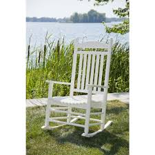 Rocking Chair Runner Bradley White Slat Patio Rocking Chair 200sw Rta The Home Depot