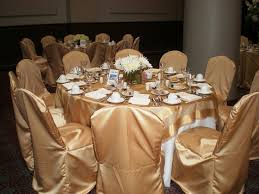 gold chair covers satin gold chair covers table and centerpiece ideas