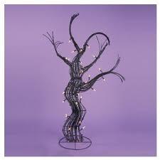 3 pre lit spooky black rattan artificial tree can