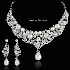 bridal necklace set pearl images Pearl bridal jewelry jpg