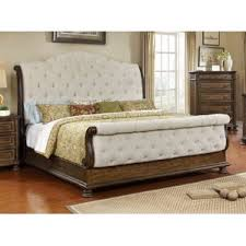 White Leather Sleigh Bed Sleigh Beds You U0027ll Love Wayfair