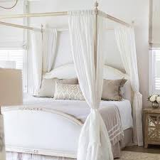 taupe striped sheer canopy bed curtains design ideas