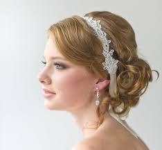 lace headbands bridal ribbon headband bridal lace headband luxe satin ribbon