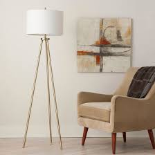 Brushed Brass Light Fixtures by Tripod Floor Lamp Antique Brass Project 62 Target