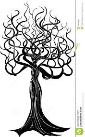 tree with a stock vector image of sadness 39906841
