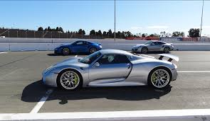 Porsche 918 Dark Blue - 918 test drive at infineon sears point on wednesday june 25th