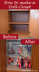 18 inch doll storage cabinet how to make a doll closet five little chefs