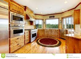 Interior Of Luxury Homes Wood Luxury Home Kitchen Interior New Farm American Home Stock