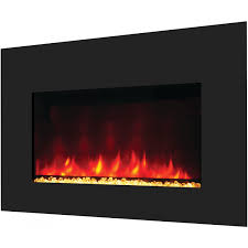 amantii zero clearance electric fireplace with 29x39 black glass
