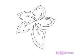 how to draw a tribal flower tattoo step by step tattoos pop