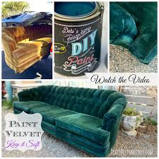 Diy Painted Furniture How To Paint Upholstery Keep The Soft Texture Of The Fabric Even